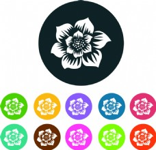花蕾剪影图标