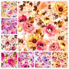 印象派花卉背景