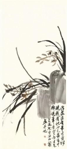 齐白石书法绘画艺术兰花