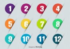 数字矢量符号点