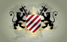 中世纪纹章盾矢量