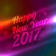 灯光明亮新年背景