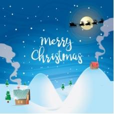 圣诞雪景背景设计