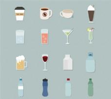饮品图标矢量素材
