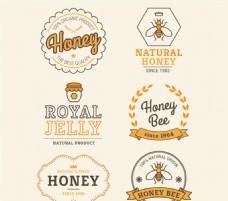创意蜂蜜标签矢量素材
