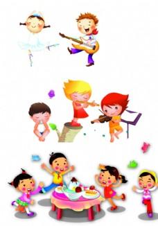卡通人物音乐图片免费下载,卡通人物音乐设计素材大全图片