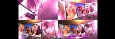 华丽紫色光效LED大屏幕展示AE模板