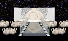 欧式鲜花婚礼大舞台