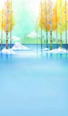 卡通树景色