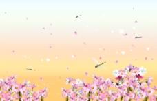 唯美花丛背景