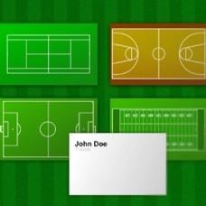 老师教练的绿色名片背景图案