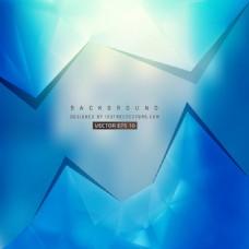 中文摘要蓝色多边形三角背景