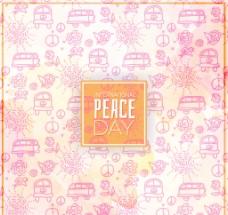 可爱的和平日背景图纸