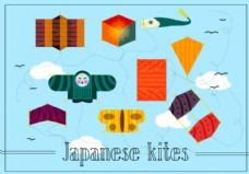免费日本风筝矢量图