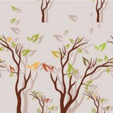描述春天正盟牙树时成长图形背景