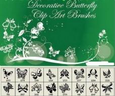 漂亮的蝴蝶花纹印花笔刷