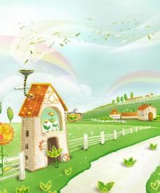 卡通小房子