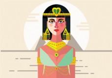 埃及艳后矢量背景