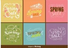 春季销售符号向量