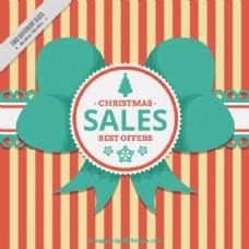 复古条纹的圣诞销售背景