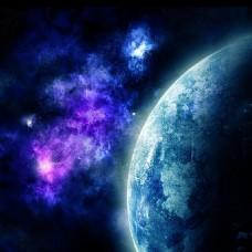 蓝色星空高清背景素材