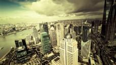 城市建筑淘宝背景