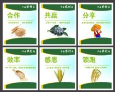 公司企业农业展板布局设计
