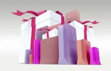 礼物盒包装图PSD素材