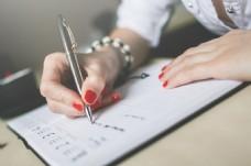 办公室写字签字图片