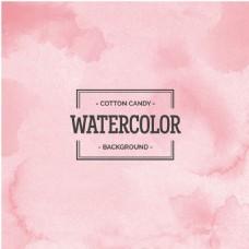 粉色水彩创意背景矢量图素材