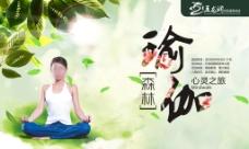 森林瑜伽 心灵之旅 桁架背景