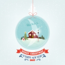 圣诞卡通背景设计