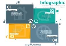 办公室infography向量
