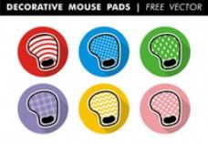 装饰鼠标垫自由矢量