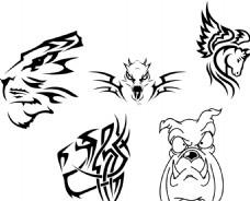 天马 抽象动物头部