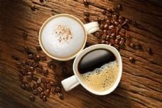 两杯咖啡图片