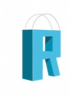 蓝色包装logo