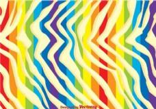 彩虹斑马打印背景
