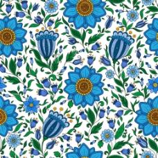 蓝色花朵花卉背景图片