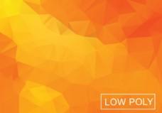 橙色几何低多边形风格插画矢量