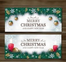 圣诞装饰用杉木叶横幅圣诞饰品