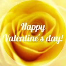 情人节黄色玫瑰背景矢量