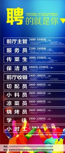 火锅展架海报