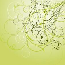 绿色的装饰花背景