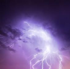 绚丽的雷电景色