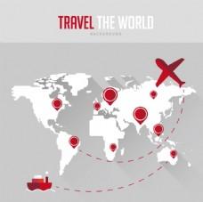 环球旅行地图