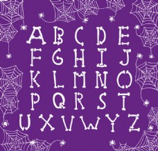 抽象万圣节字母