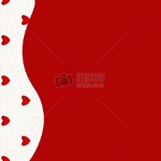 红白相间的心形图案