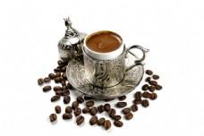 一套花纹咖啡容器图片