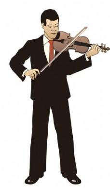 拉小提琴的人